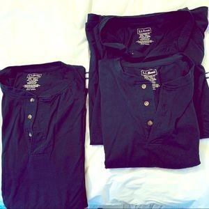 3 LL Bean shirts